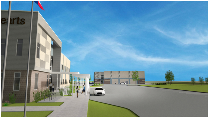 Great Hearts Irving Gym Exterior rendering