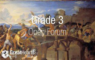 Grade 3 Open Forum