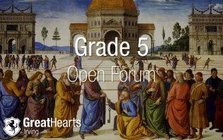 Grade 5 Open Forum